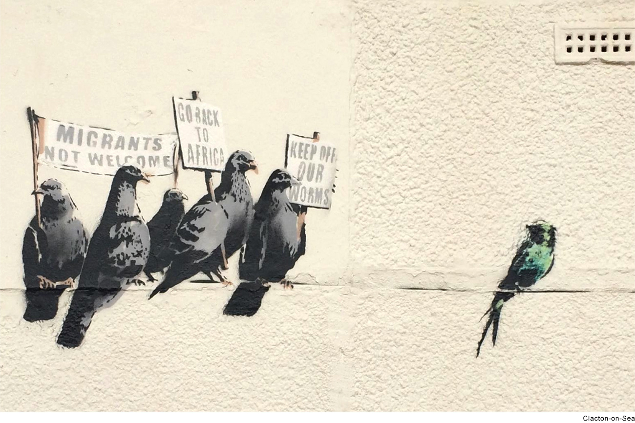 Banksy immigration