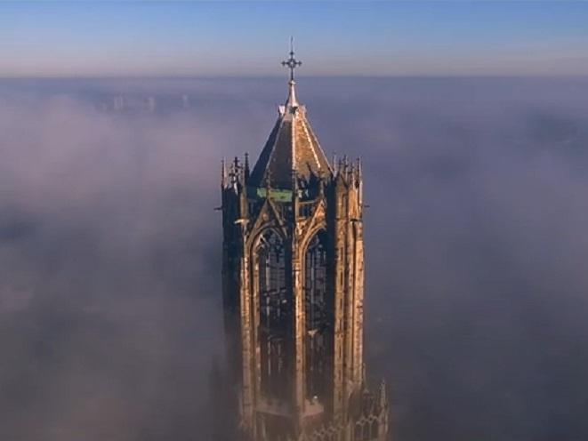 Drone Domtoren tower Utrecht