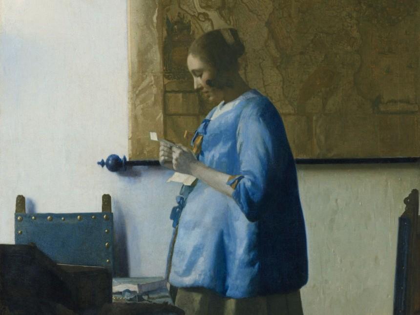 Vermeer woman reading letter