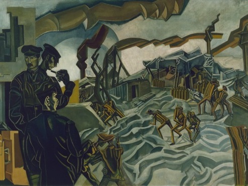 Percy Wyndham Lewis A battery shelled 1919