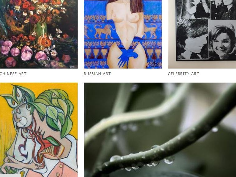 Artplode art categories