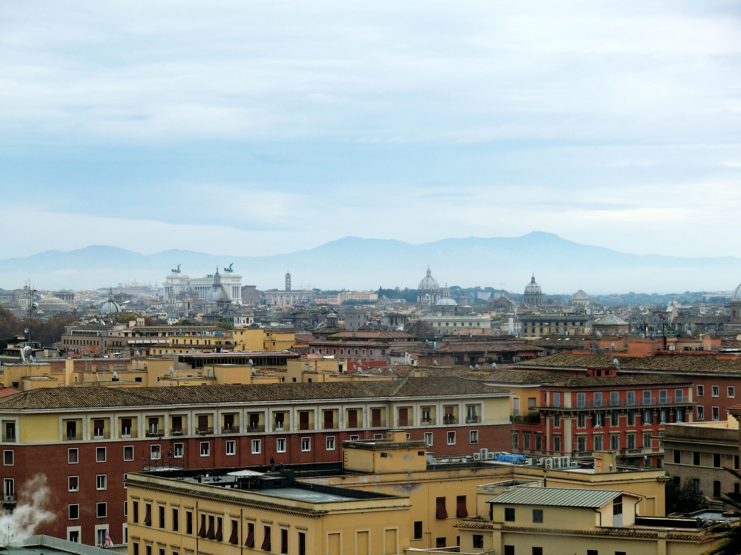 The Vatican museum - a view over Rome