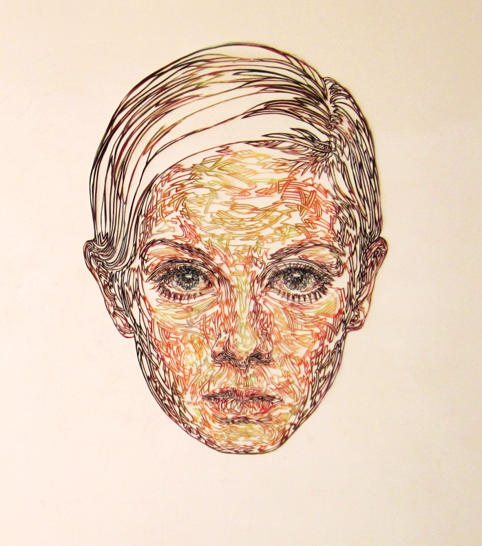 Kuin Heuff portrait of Twiggy