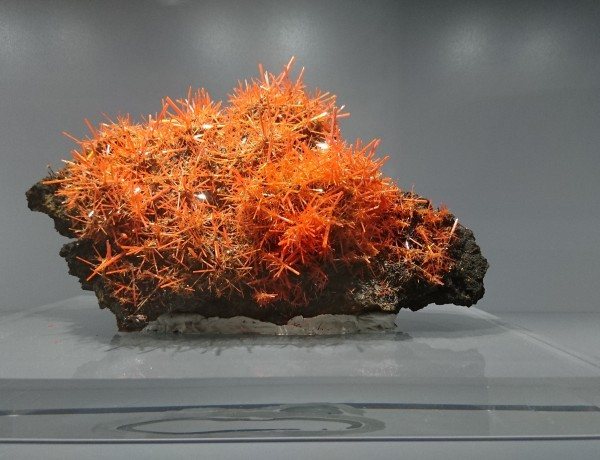 Orange mineral stone