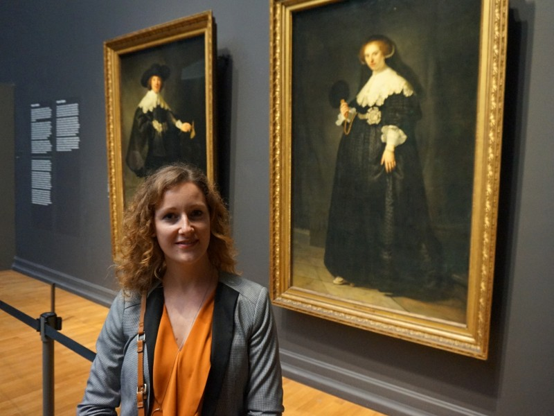 Yvette bij Marten en Oopjen in Rijksmuseum
